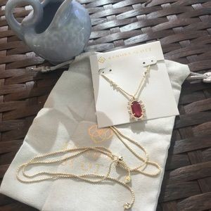 NEW KENDRA SCOTT BRETT LONG NECKLACE BERRY